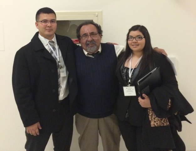 Alec Moreno and Yaritza Vasquez with Rep. Raul Grijalva