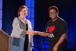 Dr. Karen Solomon and Provost Dr. Erica Holmes