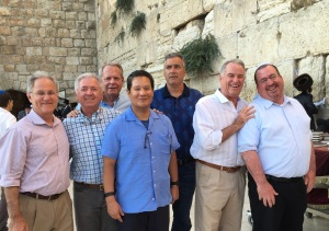 At the Western Wall with a delegation including Tucson Mayor Jonathan Rothschild