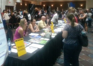 The Women in Technology table was one of many places prospective students and their parents could learn about PCC